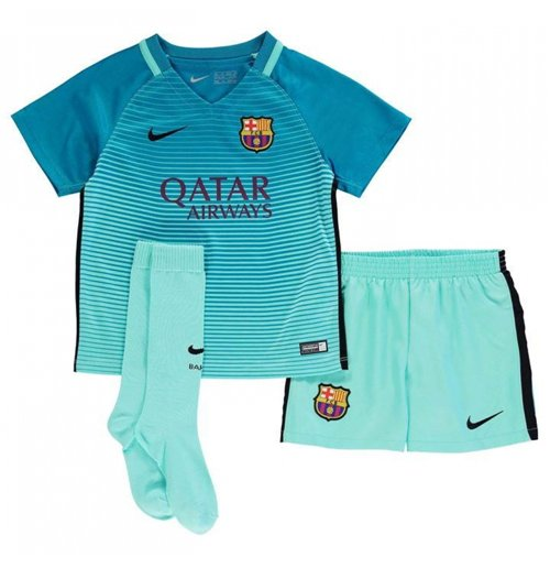 2016-2017 Barcelona Third Nike Little Boys Mini Kit