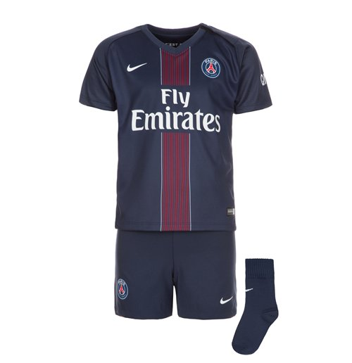 best service d6221 c93a1 2016-2017 PSG Home Nike Baby Kit