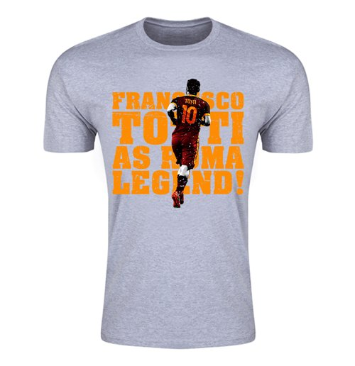 Francesco Totti Roma Legend T-Shirt (Grey)