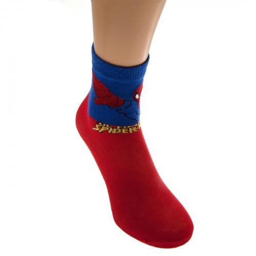 Spider-Man Boys Socks 1 Pack Junior 9-12 RD