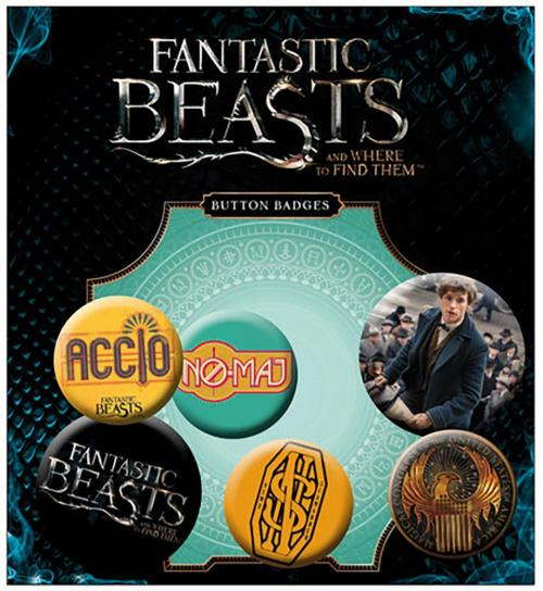 Fantastic Beasts Button Badge Set