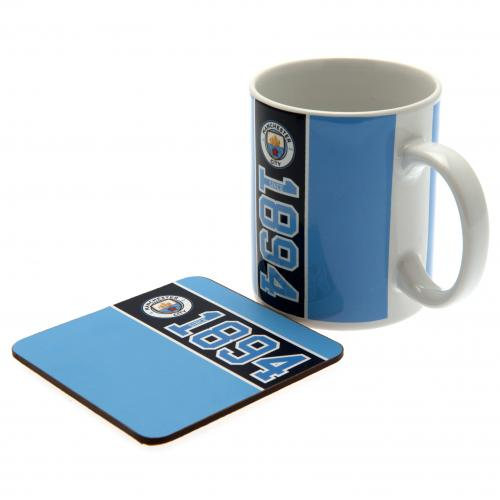 Manchester City F.C. Mug & Coaster Set