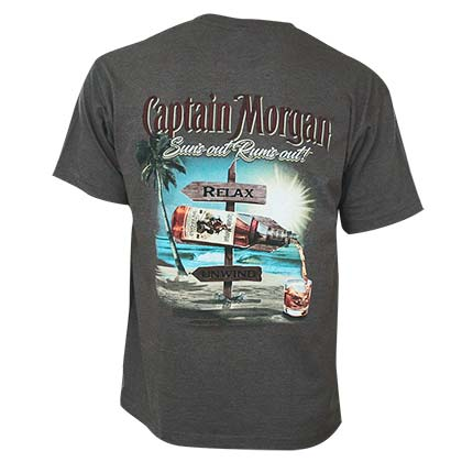 captain morgan suns out rums out tee shirt for only at merchandisingplaza uk. Black Bedroom Furniture Sets. Home Design Ideas