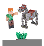 Minecraft Action Figure Alex with Skeleton Horse 8 cm