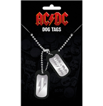 AC/DC Dog Tags with ball chain Logo