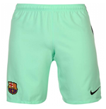 2016-2017 Barcelona Third Nike Football Shorts (Green Glow)