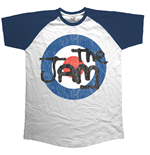 The Jam Men's Raglan Tee: Target Logo Distressed