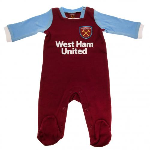 West Ham United F.C. Sleepsuit 3/6 mths