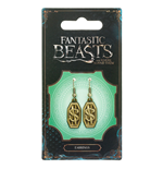 Fantastic Beasts Newt Scamander Logo Earrings (antique brass plated)