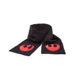 Star Wars - Black Scarf With Red Rebel Alliance Fleece Logo