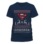 Superman - Reindeer & Snowman - Unisex T-shirt Blue