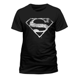 Superman - Logo Mono Distressed - Unisex T-shirt Black