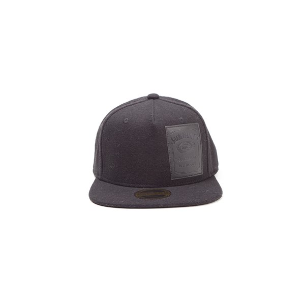 Jack Daniel's - Leather Bottle Logo Patch Snapback With Velcro Closing