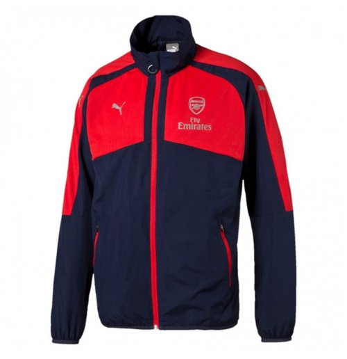 2016-2017 Arsenal Puma Casual Performance Woven Jacket (Peacot-Red) - Kids