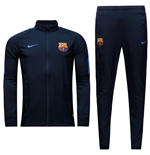 2016-2017 Barcelona Nike Squad Woven Tracksuit (Navy) - Kids