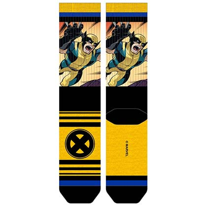 X-Men WOLVERINE Sublimated Panel Men's Crew Socks