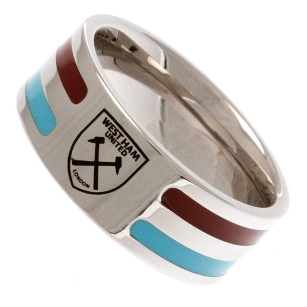 West Ham United F.C. Colour Stripe Ring Medium