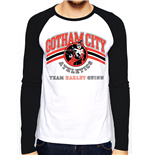 Batman - Team Harley Quinn - Unisex Mens Raglan White