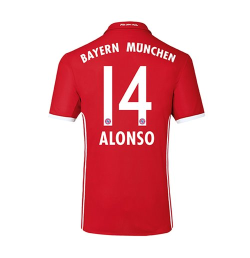 2016-17 Bayern Home Shirt (Alonso 14) - Kids