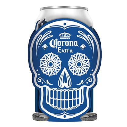 Corona Dia De Los Muertos Glow In The Dark Koozie