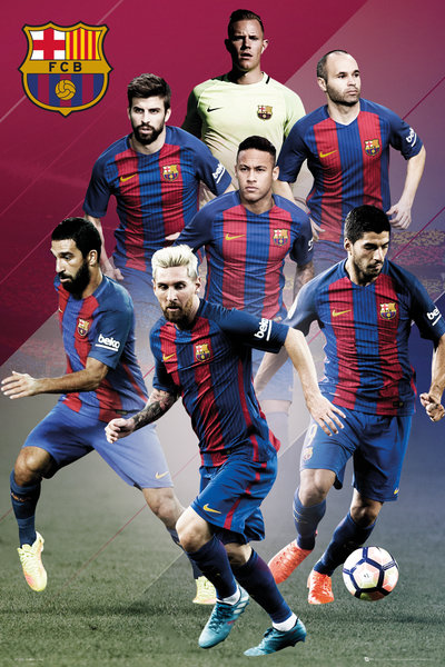 BARCELONA Players 16/17 Maxi Poster