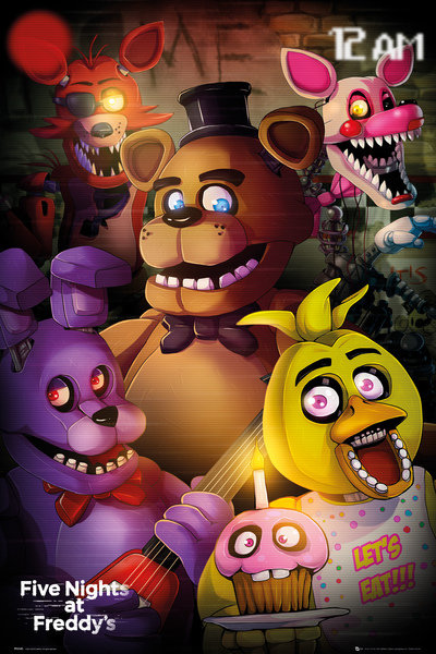 Five Nights At Freddy S Group Maxi Poster For Only 163 3 92