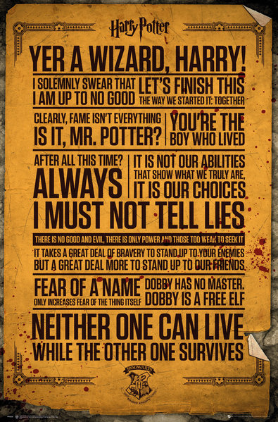 HARRY POTTER Quotes Maxi Poster