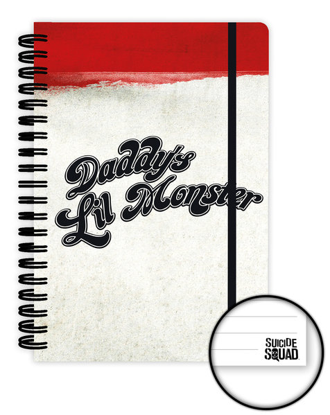 SUICIDE SQUAD Daddy's Lil Monster A5 Notebook