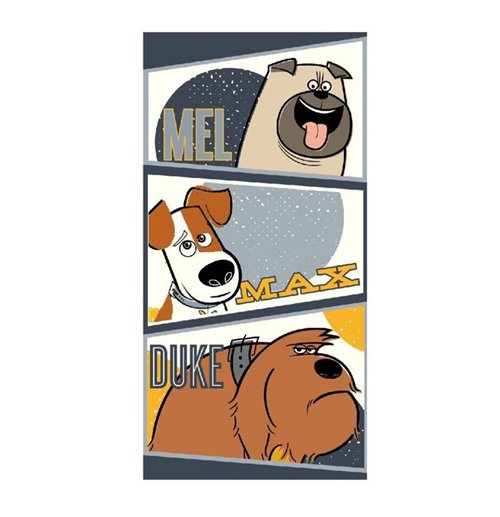 Secret Life of Pets Towel Characters 140 x 70 cm for only £ 11.37 at ...