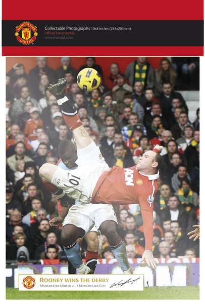 "Manchester United Rooney Derby Goal 10"" x 8"" Bagged Photographic"