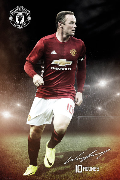 MANCHESTER UNITED Rooney 16/17 Maxi Poster