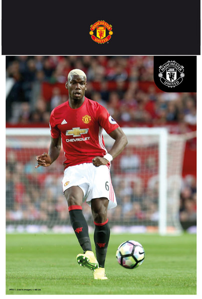 "MANCHESTER UNITED Pogba 16/17 10"" x 8"" Bagged Photographic"