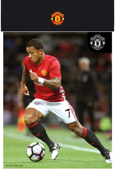 "MANCHESTER UNITED Memphis 16-17 10"" x 8"" Bagged Photographic"