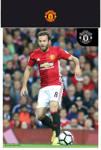 "MANCHESTER UNITED Mata 16/17 10"" x 8"" Bagged Photographic"