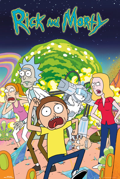 Rick and Morty Group Maxi Poster