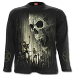 Waxed Skull - Longsleeve T-Shirt Black