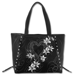 Pure Of Heart - Tote Bag - Top quality PU Leather Studded