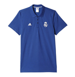 2016-2017 Real Madrid Adidas 3S Polo Shirt (Purple)
