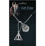 Harry Potter Dog Tags with ball chain Crest & Hallows
