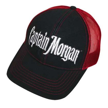 CAPTAIN MORGAN Black Trucker Hat