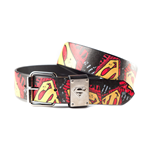 Superman - Metal Patch Printed Belt
