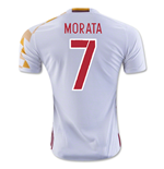 2016-2017 Spain Adidas Away Shirt (Morata 7) - Kids