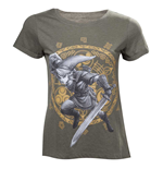 NINTENDO Legend of Zelda Woman's Link at the Gate of Time T-Shirt, Large, Military Green