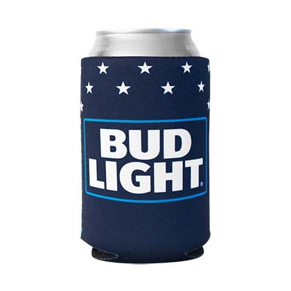 BUD LIGHT Patriotic Can Insulator