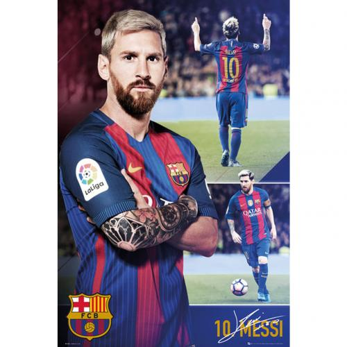 F.C. Barcelona Poster Messi Collage 63