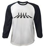 The Beatles T-shirt - Raglan Baseball Abbey Road Crossing