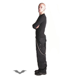 Black trousers with many pockets