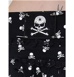 Black mini with lace & white skull print