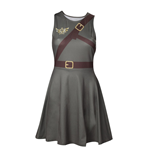 NINTENDO Legend of Zelda Woman's Link Outfit Sleeveless Dress, Small, Military Green