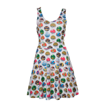 POKEMON Woman's All-over Pokeball Printed Sleeveless Dress, Medium, Grey